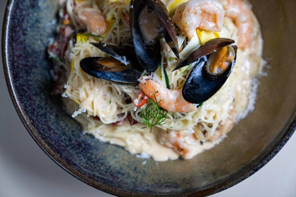 Jones the Grocer seafood pasta